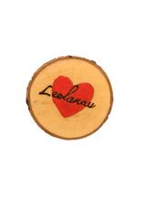 Handmade Magnet Small Leelanau Heart Red