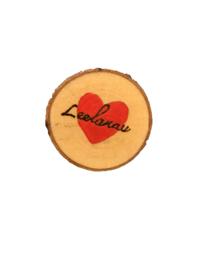 CraftCesi Handmade Magnet Small Leelanau Heart Red