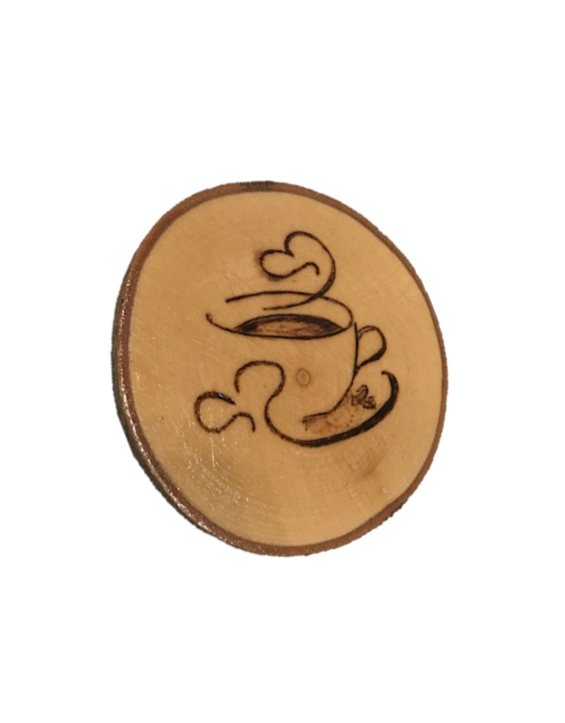 Handmade Magnet Large Coffee Natural