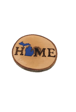 CraftCesi Handmade Magnet - Large MI Home Blue