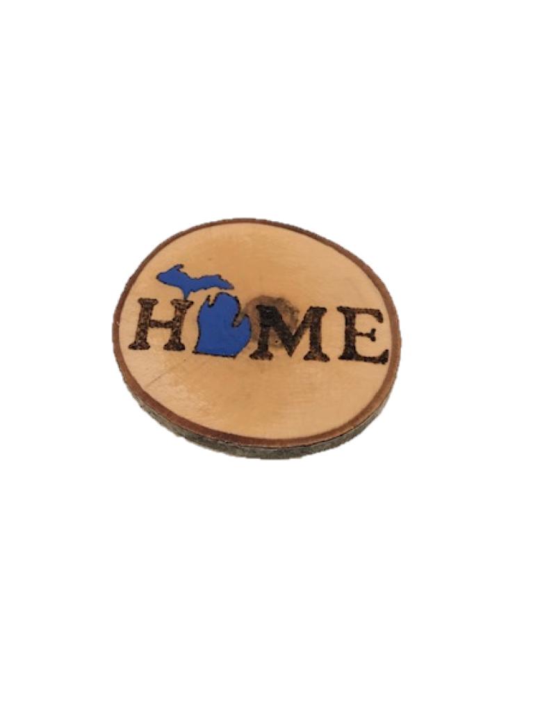 Handmade Magnet Large MI Home Blue