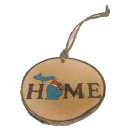 CraftCesi Handmade Ornament - Michigan Home Blue