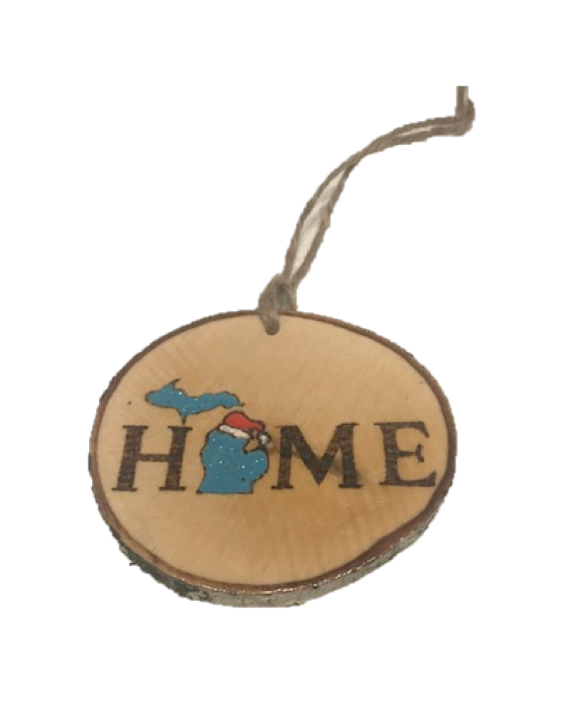 CraftCesi Handmade Ornament - Michigan Home Blue
