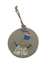 Handmade Ornament Let It Snow Grey M