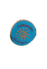 CraftCesi Handmade Magnet Large Leelanau Sun Blue