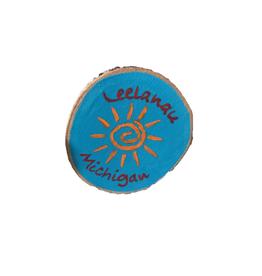 Handmade Magnet Large Leelanau Sun Blue