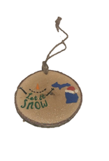 Handmade Ornament Let It Snow Green M