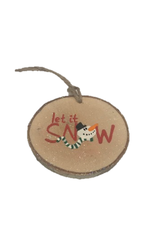 CraftCesi Handmade Ornament Let It Snow Red M