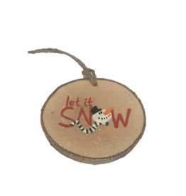 CraftCesi Handmade Ornament - Let It Snow