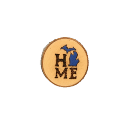 CraftCesi Handmade Magnet Small MI Home Blue