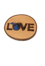 CraftCesi Handmade Magnet - Large MI Love Blue