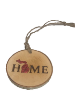 CraftCesi Handmade Ornament Michigan Home Red M