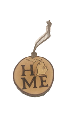 CraftCesi Handmade Ornament Michigan Home Natural M