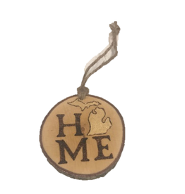 Handmade Ornament Michigan Home Natural M