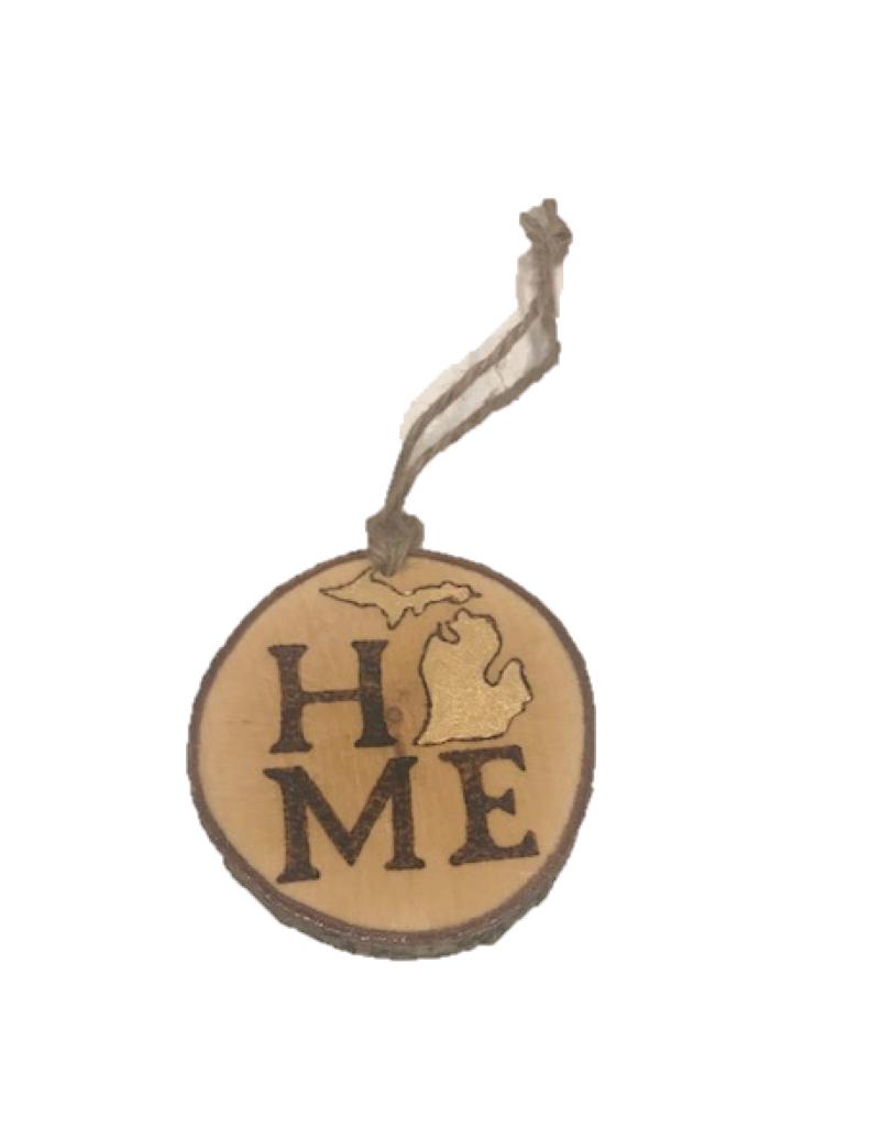 Handmade Ornament Michigan Home Natural M