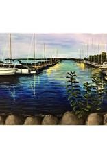 "Nanglow Fine Art ""Suttons Bay Marina"" - Nanglow Fine Art 24x20"