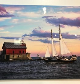 Nick Irwin Images Sunset Sailaway - 16x24 Aluminum Print