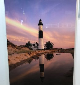 Nick Irwin Images Big Sable Point Pink - 20x30 Aluminum Print