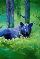 "Ram Lee Art Ram Lee Prints Bear White Matted 8"" x 10"""