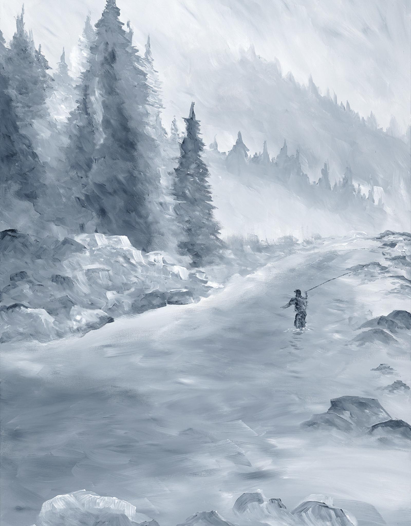 "Ram Lee Art Ram Lee Prints Winter Steelie 3 White Matted 8"" x 10"""