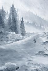 """Ram Lee Art Ram Lee Prints Winter Steelie 3 Black Matted 8"""" x 10"""""""