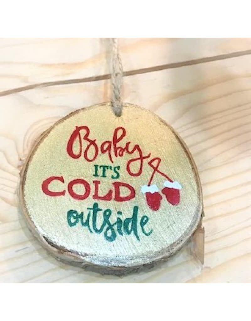 CraftCesi Handmade Ornament - Baby It's Cold Outside