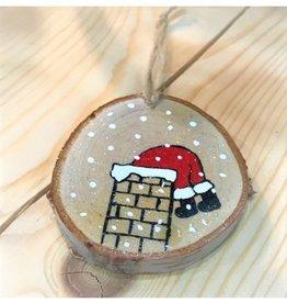 CraftCesi Handmade Ornament - Santa & Chimney