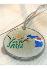 CraftCesi Handmade Ornament - Let It Snow