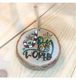 CraftCesi Handmade Ornament - Joy to the World