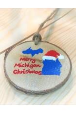 CraftCesi Handmade Ornament - Merry Michigan Christmas