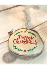 CraftCesi Handmade Ornament - Merry Christmas