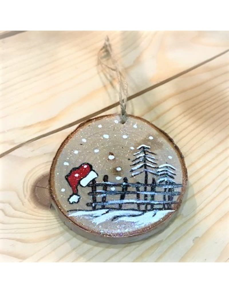 CraftCesi Handmade Ornament - Santa Hat