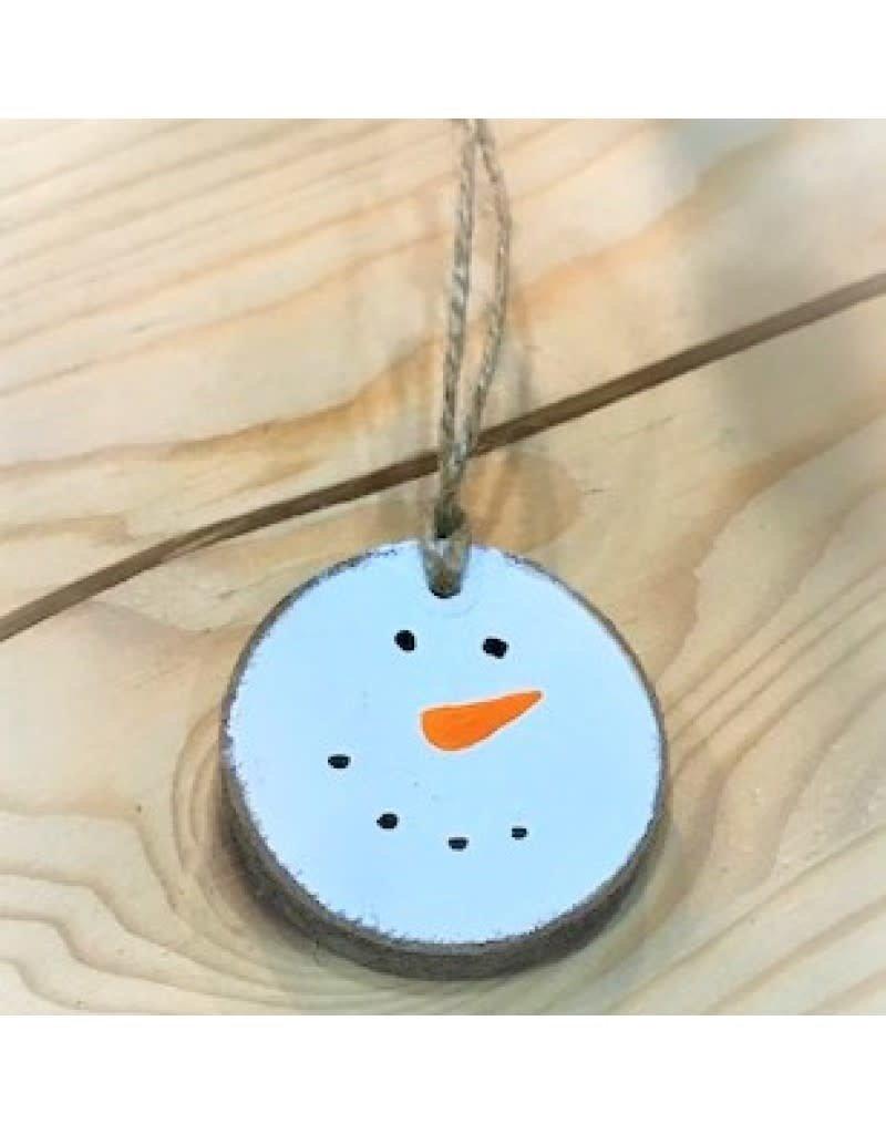 CraftCesi Handmade Ornament- Snowman Face