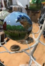 Ron Wetzel Art Handpainted Ornament - Bluebird 3
