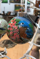 Ron Wetzel Art Handpainted Ornament - Bluebird 4