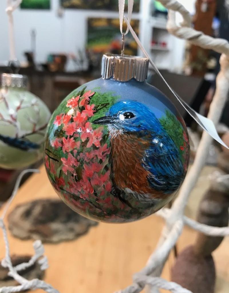 Ron Wetzel Art Handpainted Ornament - Bluebird 4
