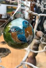 Ron Wetzel Art Handpainted Ornament - Bluebirds 3