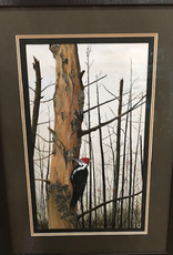 Ron Wetzel Art Ron Wetzel Original - Good Harbor Pileated Framed