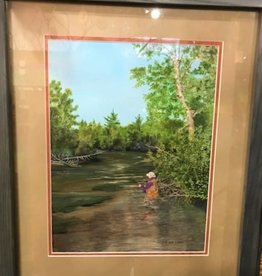 Ron Wetzel Art Ron Wetzel Original - Fly Fisherman Framed