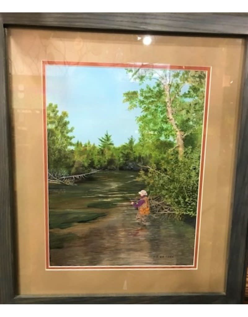 Ron Wetzel Art Ron Wetzel Original - Fly Fisherman Framed
