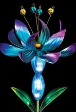 Solar Lotus Spinner Stake - Blue