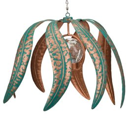 Hanging Solar Wind Spinner - Patina Flame