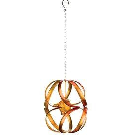 Hanging Solar Wind Spinner - Orange Spiral