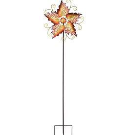 Orange Flower Filigree Spinner