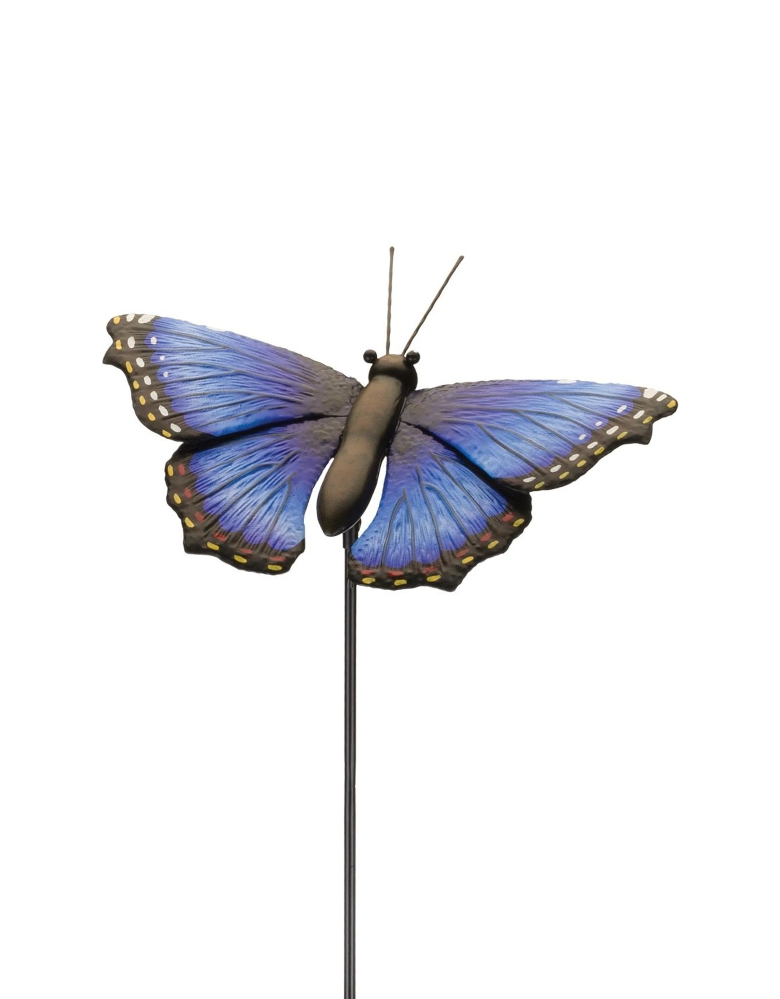 Garden Stake - 36'' Blue Morpho Butterfly