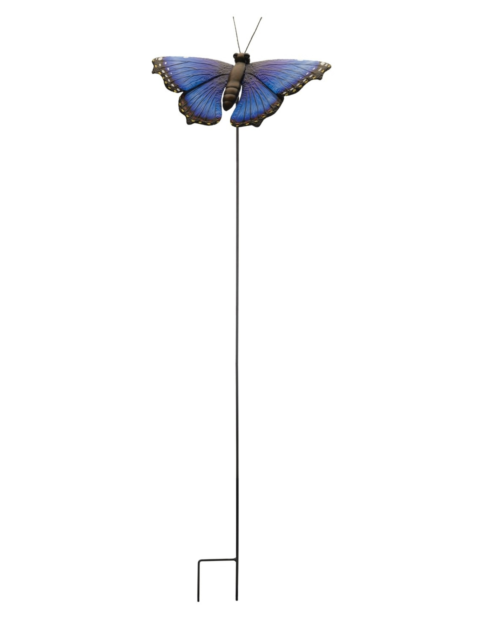 Garden Stake - 46'' Blue Morpho Butterfly
