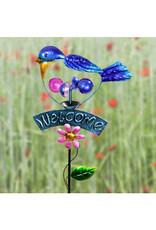 Garden Stake - Welcome Bluebird Kinetic