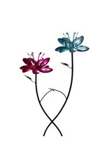 Wind Spinner Stake - Double Lotus
