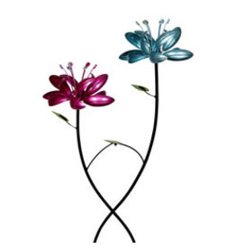 Two Flower Lotus Kinetic Stake