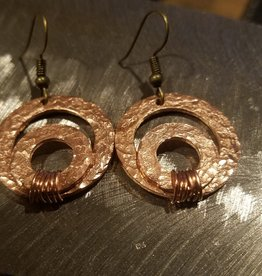 Inner Circle - Copper Earrings